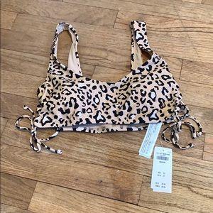 Hollister Cheetah Print Bikini Top